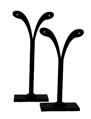 Jewelry Display Earring Stands Acrylic Black 2 Piece Set