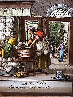 """Dutch """" Book of Trades"""" by Jan Luyken in 1694 - stained glass"""