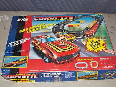 Artin Corvette Battery Operated Turbo Chase Road Racing Race Track -Missing Cars