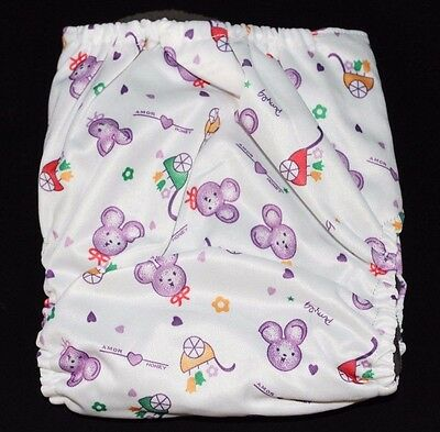 One Size Charcoal Bamboo Cloth Diaper with pocket & Insert Fits 10-40lb