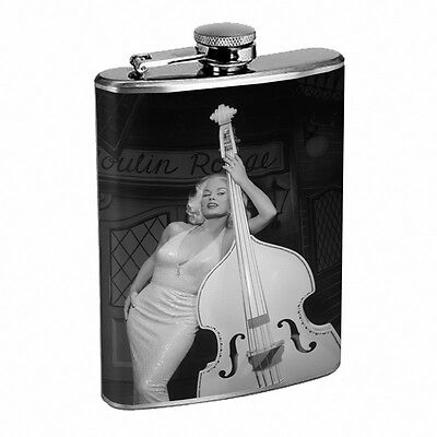 Mamie Van Doren 8oz Stainless Steel Flask Drinking Whiskey