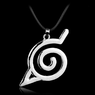Anime Collectibles Naruto Cosplay Accessories Konoha Logo Pendant Necklace