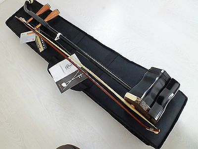 Top Q Dunhuang Chinese Music 2 String Instrument Maple Wood Erhu Violin Box A1