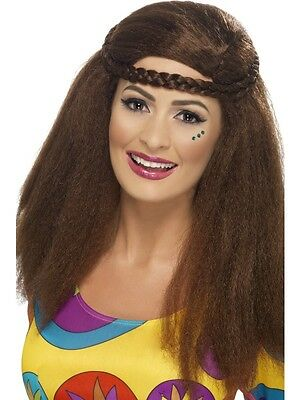 Hippy Chick Long Afro Brown