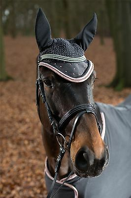 HKM Ear Net -Copper Kiss- fly protection horse stylish equestrian ear cover 7797