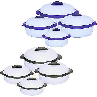 4 Pc Insulated Casserole Hot Pot Set with Lids Food Warmer Storage Set Kitchen