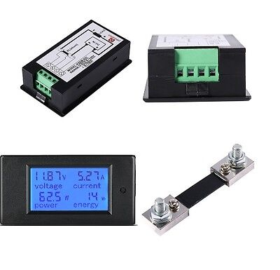 DC 6.5-100v 50A Meter Voltage Current Power Energy Combo Monitor 50A Shunt  UK