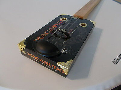 "cigarbox guitar electro-acoustic ""Macanudo"" slide lapsteel traditional style"