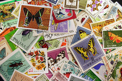 125 Butterflies & Insects (M0) Stamps
