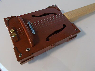 cigarbox guitar 4 string electro-acoustic slide lapsteel traditional style