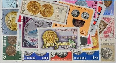 25 Coins on stamps (M69) Stamps