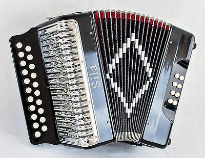 New Sila 2 Row B/C - Black - Diatonic Accordion
