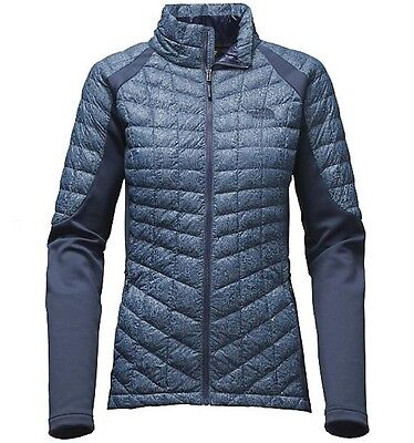 The North Face Women's MOMENTUM THERMOBALL HYBRID Insulated Jacket Cosmic Blue M