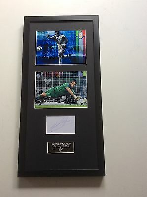 Gianluigi Buffon Italy Hand Signed Autograph Mounted Frame