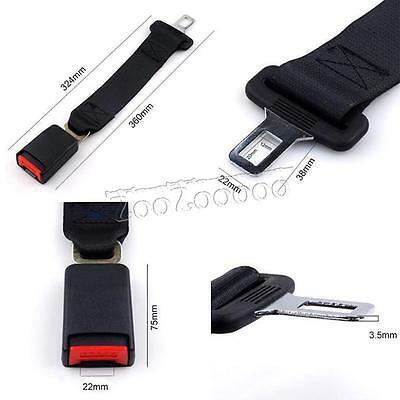 36cm Adjustable Auto Car Seat Belt Extension Extender Safety Support Buckles