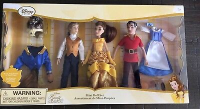 AUTHENTIC DISNEY Belle Beauty and the Beast Deluxe Mini Doll Set NIB