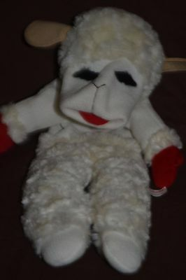 "16"" Authentic 2002 Lamb Chop Full Body Plush Puppet By Shari Lewis"
