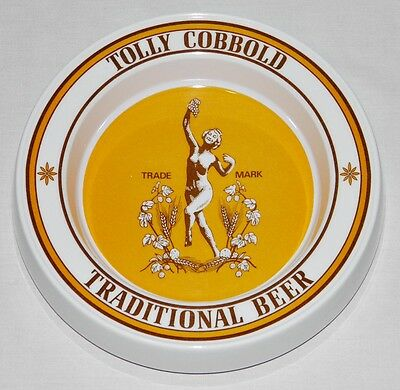 TOLLY COBBOLD Ale BEER Ashtray DISH England PRAESIDIUM MELAMINE Vintage