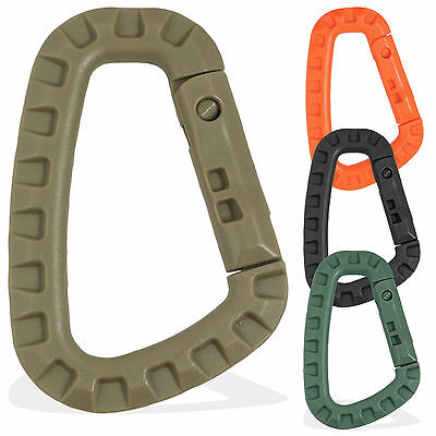Tactical Military Army MOLLE Load EDC Accessory Link Plastic Carabiner Hook Clip