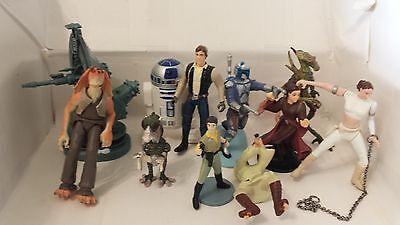 Mixed Lot Of Star Wars Figures 2002 06 Lucas Films 96 99 Applause  Han Solo R2