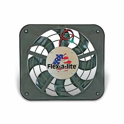 "Flex-a-lite Low-Profile S-Blade Electric Fan 1,250 CFM Puller 12"" Dia Single 111"