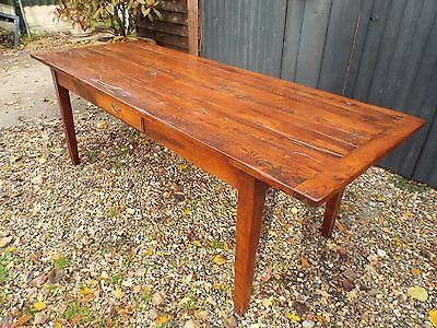 Large Antique Style French Oak Farmhouse Dining Table