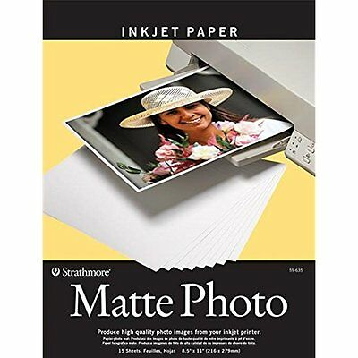 Photo Paper Strathmore STR-59-635 Matte Digital Photo Paper, 8.5 by 11