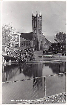 All Saints Church Palmerston NEW ZEALAND Real Photo Postcard