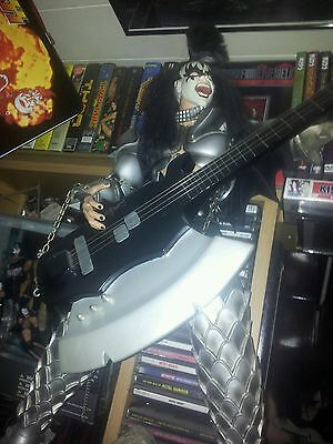 Kiss Gene Simmons Mega Rare Figure With Axe Bass Destroyer !