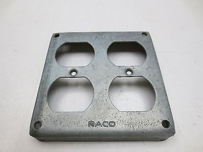 """RACO/HUBBELL 52-2D 4"""" Square Duplex Receptacle Cover"""