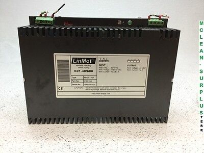 LinMot S01-48/600 PSU Industrial Switching Power Supply 48 VDC / 12A 0150-1946
