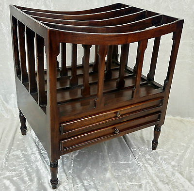 Beautiful New Solid Mahogany Canterbury/magazine Rack.