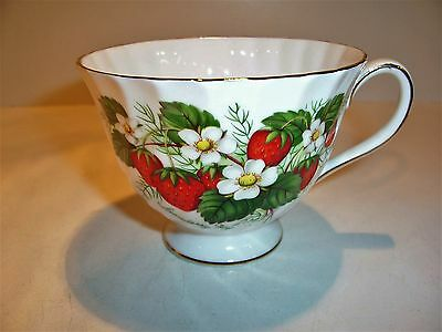 Vintage Royal Adderley Strawberry Ripe Bone China Tea Cup Only