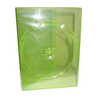 Traslucido Verde Custodia DVD 14mm Spesso Misura Std Box Of 100 Cases per Xbox