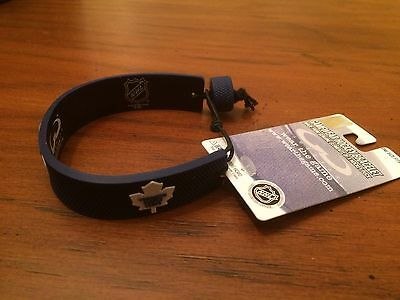 Gamewear Nhl Hockey Bracelet Toronto Maple Leafs Made Out Of Hockey Puck - Sale