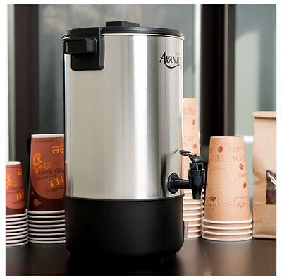 Commercial Coffee Maker Brewer Office Urn 30 Cup (1.1 Gallon) Stainless Steel