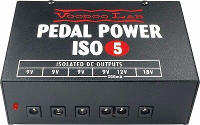 Voodoo Lab Pedal Power ISO-5 Isolated 9V Power Supply for Pro Stage & Studio Use