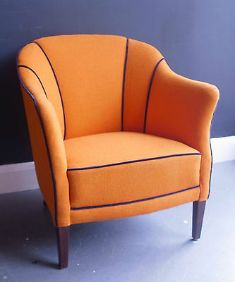 A vintage 1940s Danish reupholstered armchair