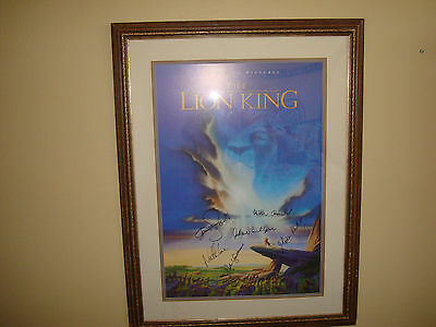 The Lion King Signed Movie Poster Autograph Kelly Jones Lane Broderick Framed