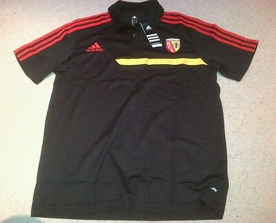 Racing Club De Lens Football Black Polo Shirt by Adidas - Size XL - BNWT