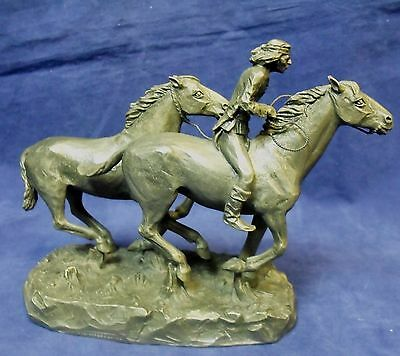 1974 Philip Kraczkowski Worcester Pewter Horses and Rider