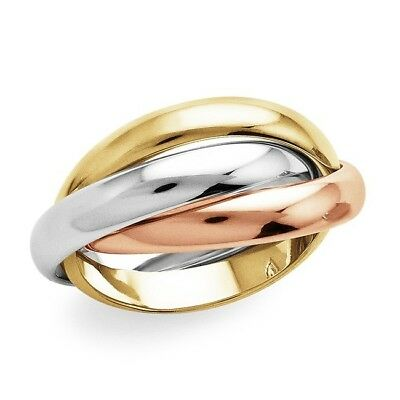 Tri-Color Trio Fashion Ring in 10K Gold