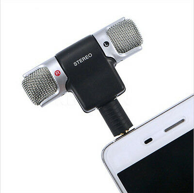 Stereo Microphone for Mobile Phone Laptop Netbook Tablet Stereo Mic Dictation