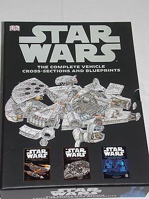 STAR WARS: The Complete Vehicle Cross-Sections and Blueprints 2 Books + posters
