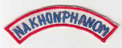 Wartime Thai Made Nakhon Phanom Red Border Tab / Patch