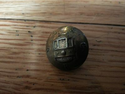 RARE Vintage BRASS Button Railroad Montreal Southern Counties M & SC R Trolley