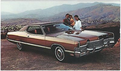 1972 Mercury MARQUIS BROUGHAM 2-Door Hardtop Dealer Promo Postcard UNUSED VG+ ^