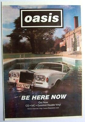 OASIS 1997 Poster Ad BE HERE NOW