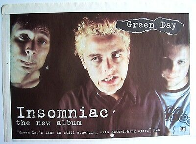 GREEN DAY 1995 Poster Ad INSOMNIAC
