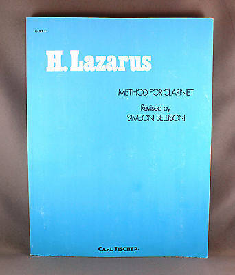 H.Lazarus Method For Clarinet Part 1 - Brand New